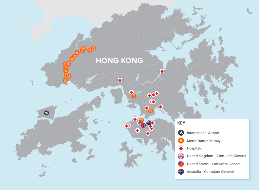 Hong Kong Violence Map